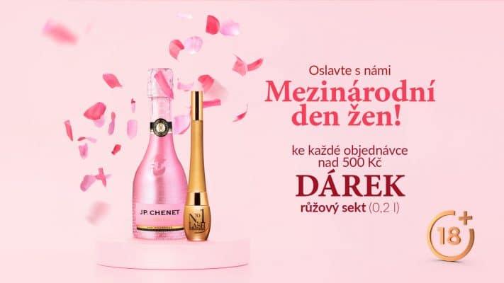 Nakupte na e-shopu Di Angelo Cosmetics za více než 500 Kč a ke své objednávce získejte rosé sekt (0,2 l) jako DÁREK! Akce je určena pouze osobám starším 18 let.
