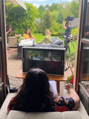 Momentka z natáčení dílu pořadu ČT1 Všechno, co mám ráda, který se bude vysílat 24. 6. 2021.